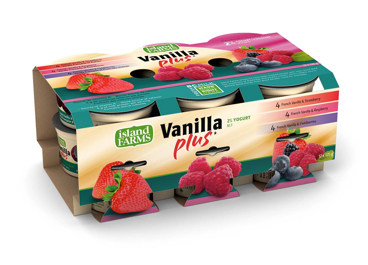 Product rendering: Yogurt multipack