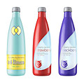 Product rendering: Clearly Canadian water beverage