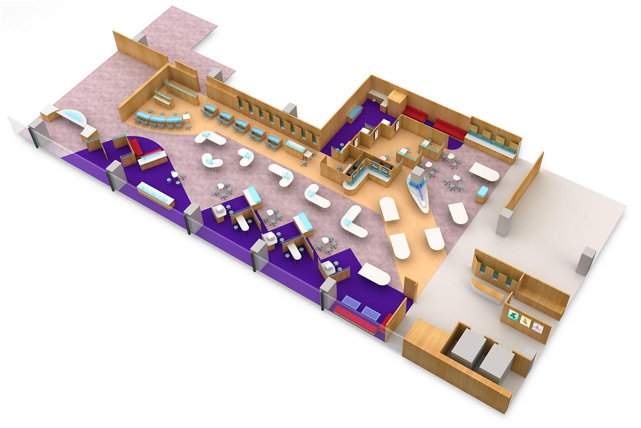 Optician shop floor plan